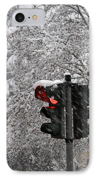 IPhone Case featuring the photograph Stop The Snow by Raffaella Lunelli