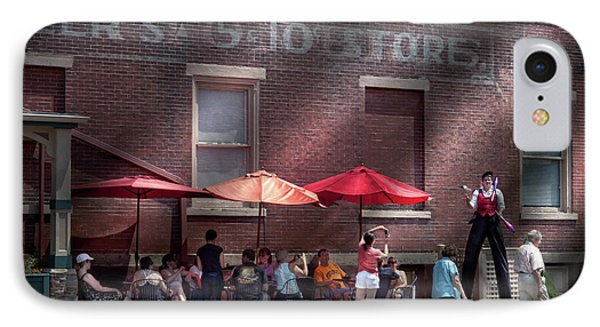 Storefront - Bastile Day In Frenchtown Phone Case by Mike Savad