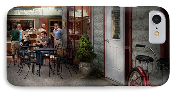 Storefront - Frenchtown Nj - At A Quaint Bistro  Phone Case by Mike Savad