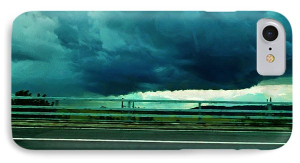 IPhone Case featuring the digital art Storm Approaching  by Steve Taylor