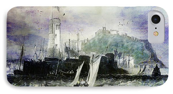 Storm At Scarborough Phone Case by Lianne Schneider