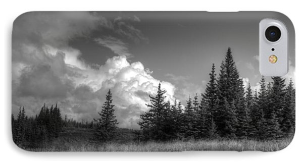 IPhone Case featuring the photograph Storm Clouds Building by Michele Cornelius