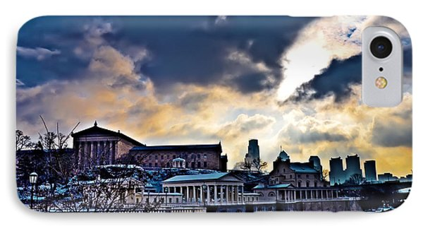 Storm Clouds Over Philadelphia Phone Case by Bill Cannon