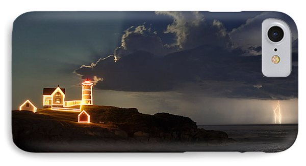 Storm Energizes The Lightning And The Lighthouse IPhone Case by Rick Frost