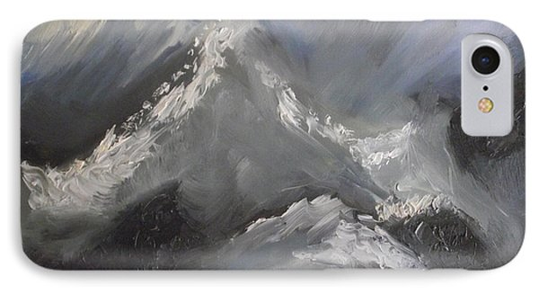 IPhone Case featuring the painting Storm Gathering by Martin Blakeley