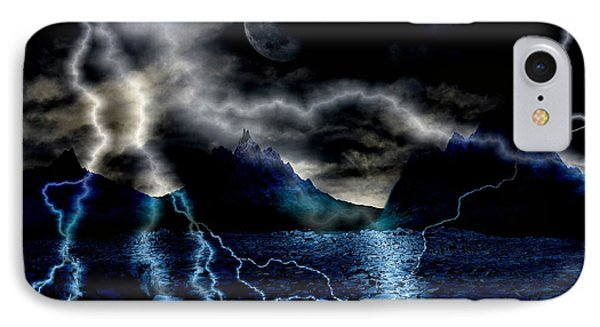 Storm In The Blue Mountains IPhone Case by Angel Jesus De la Fuente