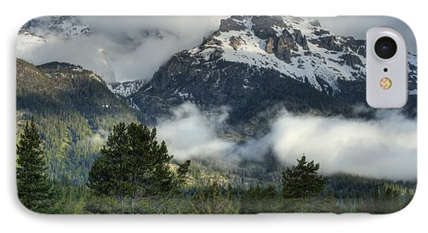 Storm  In The Tetons Phone Case by Sandra Bronstein