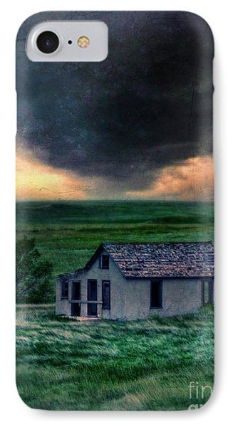Storm Over Abandoned House Phone Case by Jill Battaglia