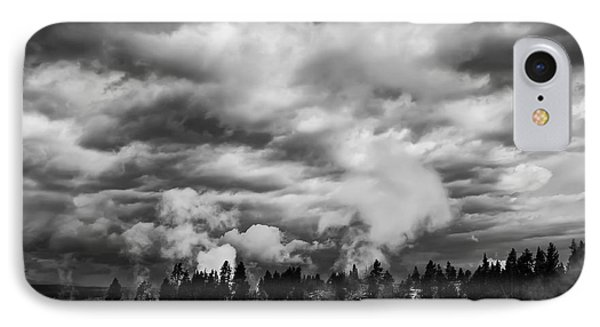 Storm Over Firehole Lake Drive Phone Case by Daniel Hagerman
