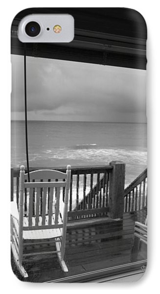 Storm-rocked Beach Chairs IPhone Case