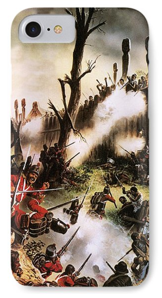 Storming Of Maori Fort  IPhone Case by Oliver Frey