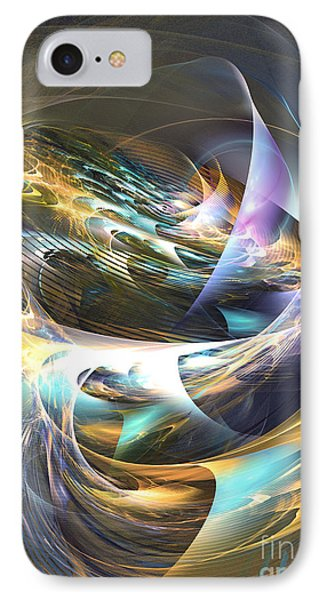 Storm's Ear - Fractal Art Phone Case by Sipo Liimatainen