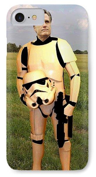 Stormtrooper Mitt Romney Phone Case by Paul Van Scott