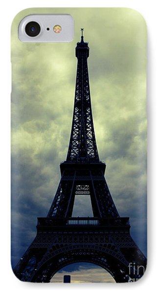 Stormy Day In Paris Phone Case by Carol Groenen