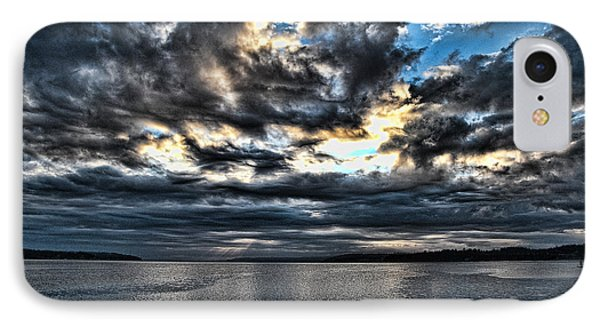 Stormy Morning IPhone Case by Ron Roberts