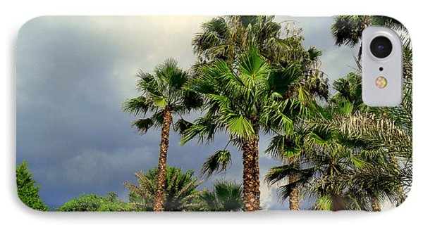 Stormy Skies And Palms Phone Case by Sheri McLeroy