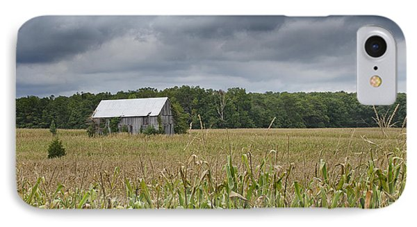 Stormy Sky Over A Maryland Farm IPhone Case by Brendan Reals