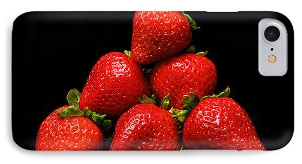 Strawberries On Velvet Phone Case by Andee Design