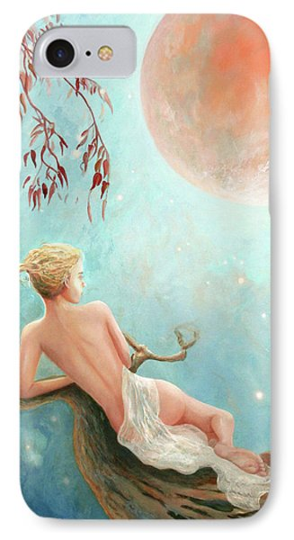 Strawberry Moon Nymph IPhone Case by Michael Rock