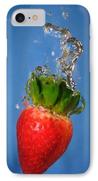 Strawberry Plunge Phone Case by John White