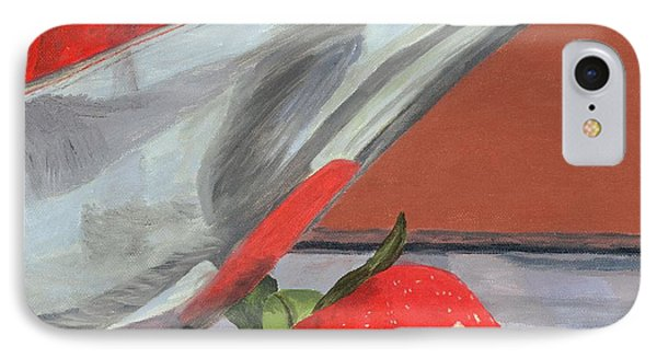 Strawberry Season IPhone Case by Lynne Reichhart