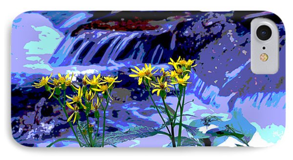 Stream And Flowers IPhone Case by Zawhaus Photography