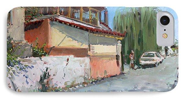 Street In A Greek Village IPhone Case by Ylli Haruni