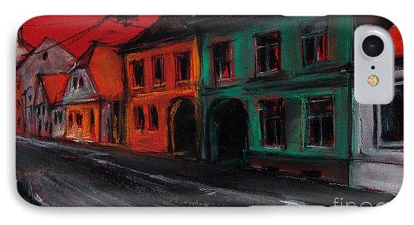 Street In Transylvania 1 Phone Case by Mona Edulesco