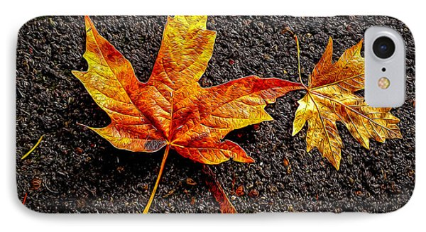 Street Leaf IPhone Case by Ken Stanback