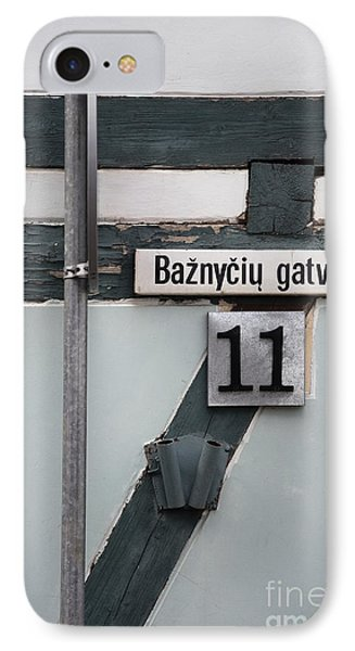 Street Plate IPhone Case by Agnieszka Kubica