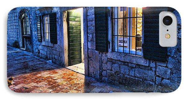 Street Scene In Ancient Kotor Montenegro Phone Case by David Smith