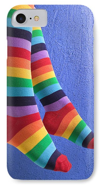 Striped Socks Phone Case by Garry Gay