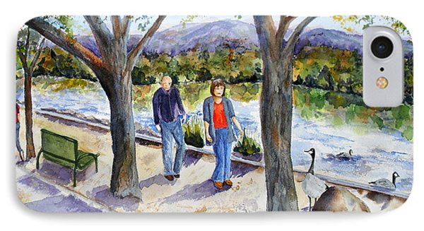 Strolling Virginia Lake Phone Case by Vicki  Housel