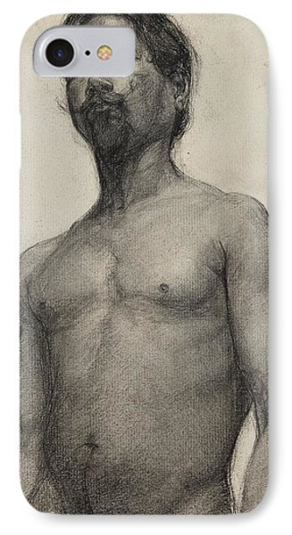 Study Of A Negro Man IPhone Case by Henry Ossawa Tanner