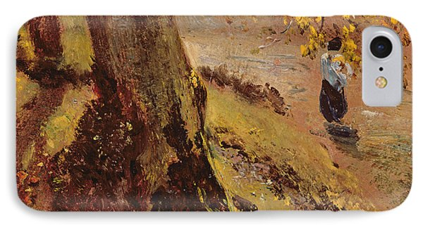 Study Of Tree Trunks Phone Case by John Constable