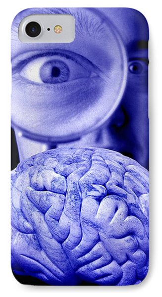 Studying The Brain, Conceptual Image Phone Case by Victor De Schwanberg