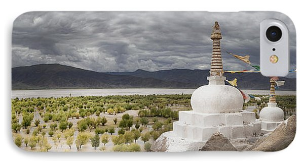 Stupas And Small Shrines IPhone Case