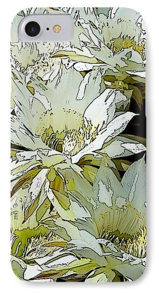 Stylized Cactus Flowers Phone Case by Phyllis Denton