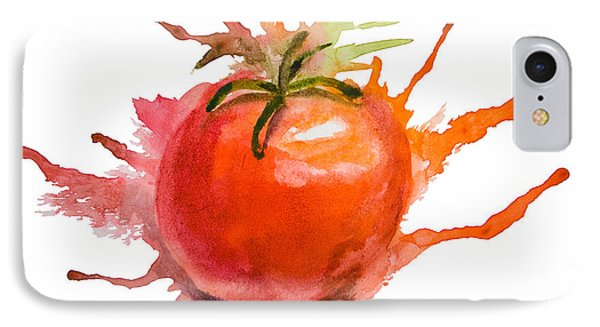 Stylized Illustration Of Tomato IPhone Case