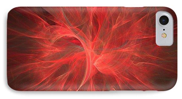 Subtle Aura-fractal Art IPhone Case by Lourry Legarde