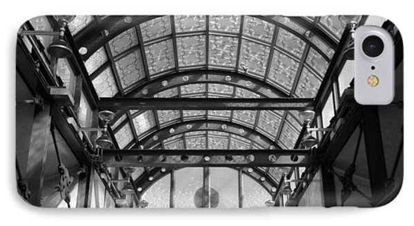 Subway Glass Station In Black And White Phone Case by Rob Hans