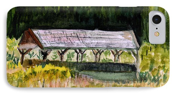 Sugar Mill Covered Bridge In Barton Vt Phone Case by Donna Walsh