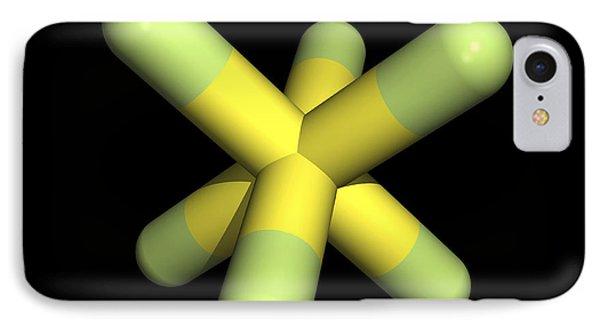 Sulphur Hexafluoride Molecule Phone Case by Friedrich Saurer