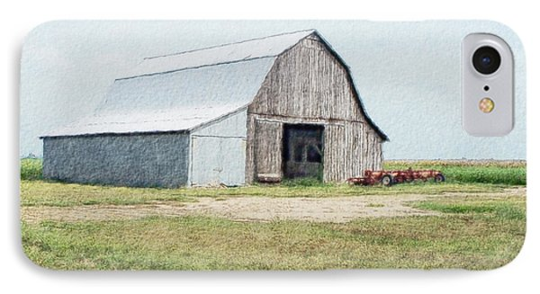 IPhone Case featuring the digital art Summer Barn by Debbie Portwood