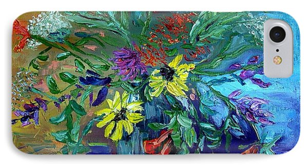 IPhone Case featuring the painting Summer Bouquet by Carol Berning