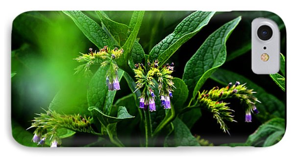 IPhone Case featuring the photograph Summer Comfrey Blooms by Susanne Still