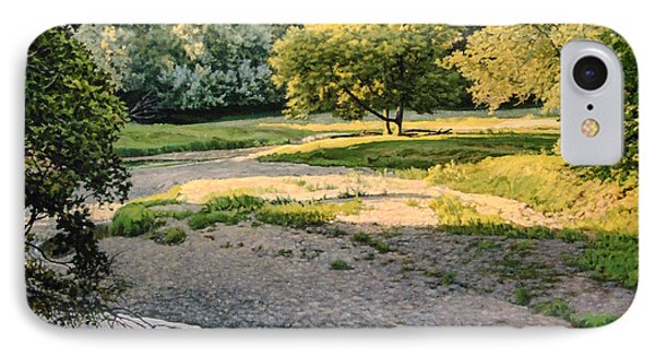 Summer Evening Along The Creek IPhone Case by Bruce Morrison