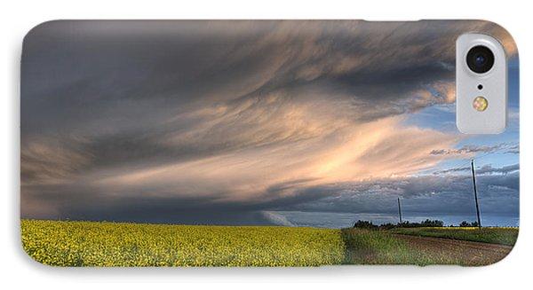 Summer Evening Storm Blowing Over Ripe Phone Case by Dan Jurak