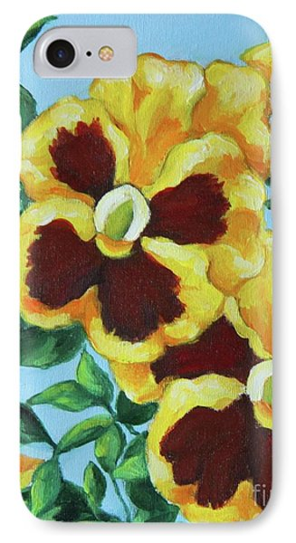 IPhone Case featuring the painting Summer Pancies by Inese Poga