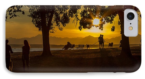 Summer's Last Sunset IPhone Case by Ken Stanback